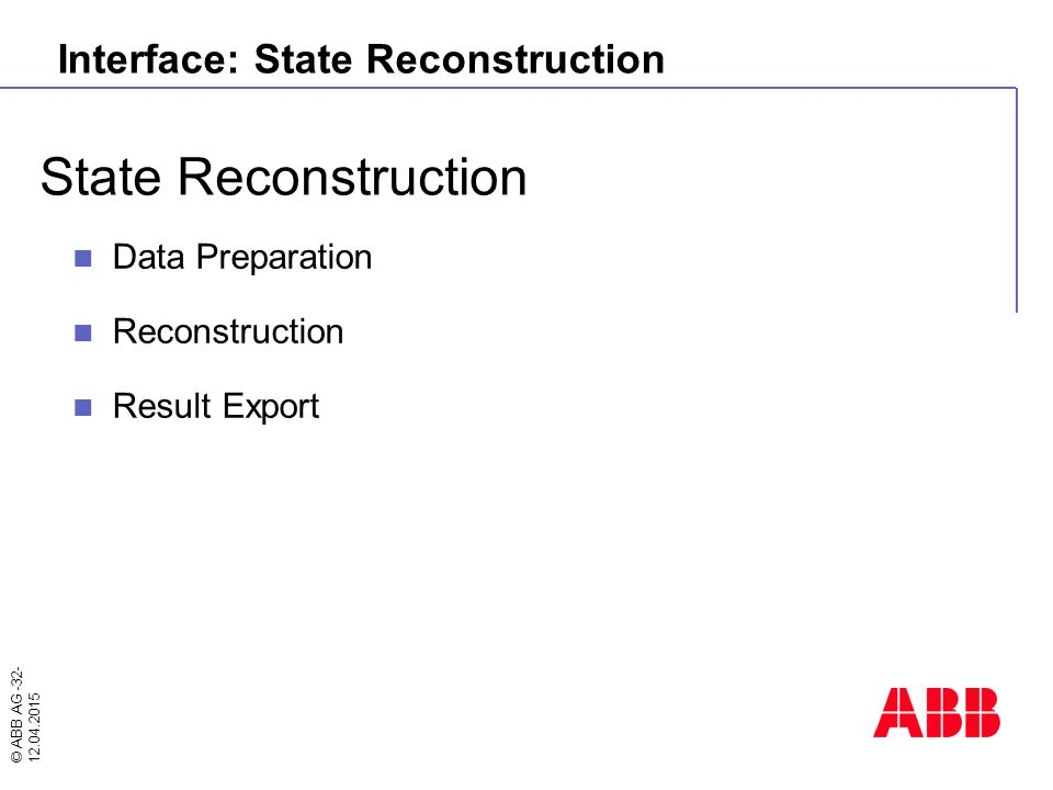 Interface: State Reconstruction