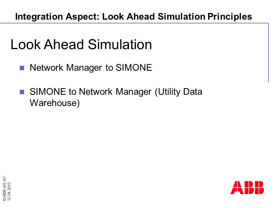 Integration Aspect: Look Ahead Simulation Principles