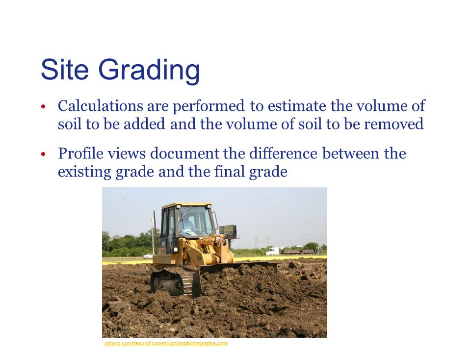 Site Grading Civil Engineering and Architecture. Unit 3 – Lesson 3.4 – Site Considerations. Site Grading.