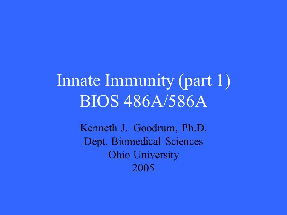 Innate Immunity (part 1) BIOS 486A/586A
