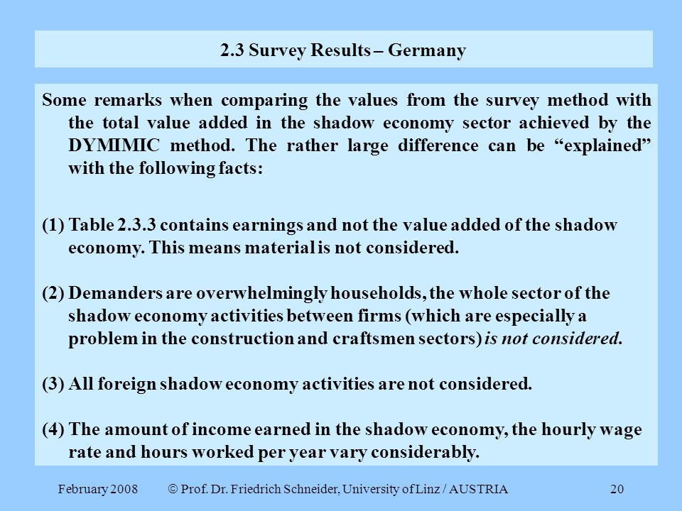 2.3 Survey Results – Germany