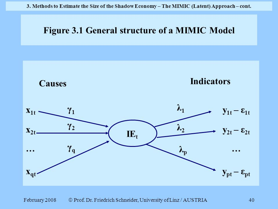 Figure 3.1 General structure of a MIMIC Model