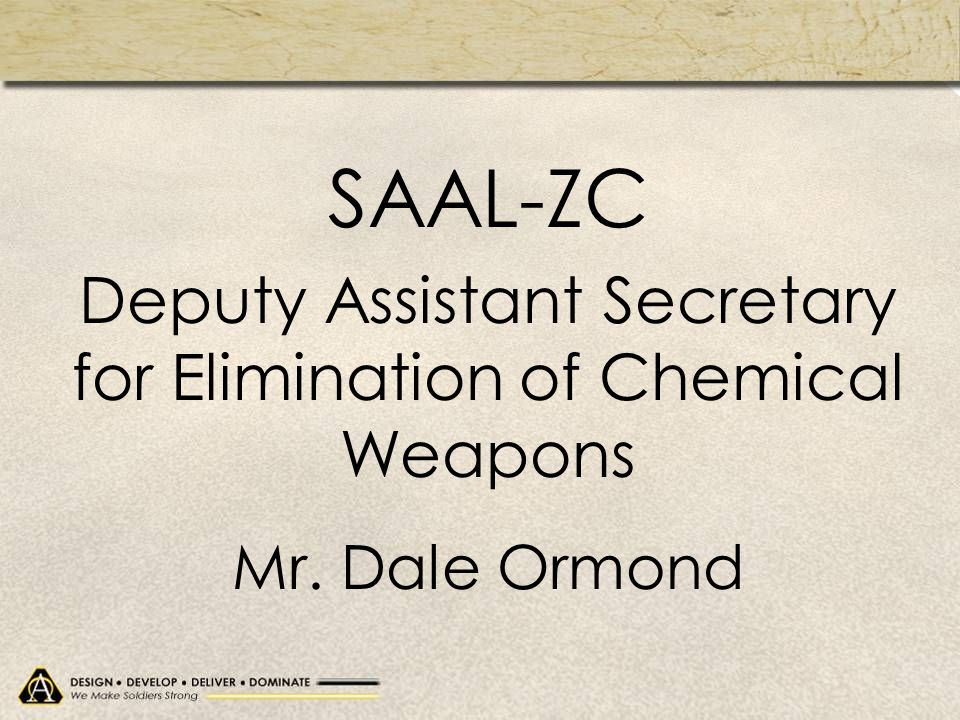 Deputy Assistant Secretary for Elimination of Chemical Weapons
