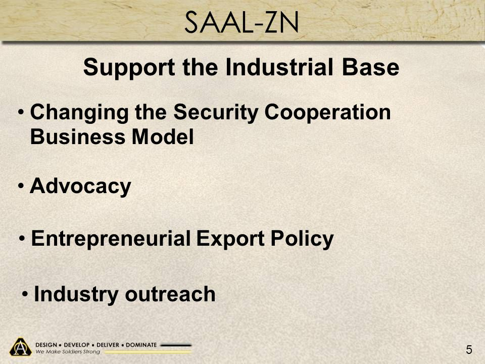Support the Industrial Base