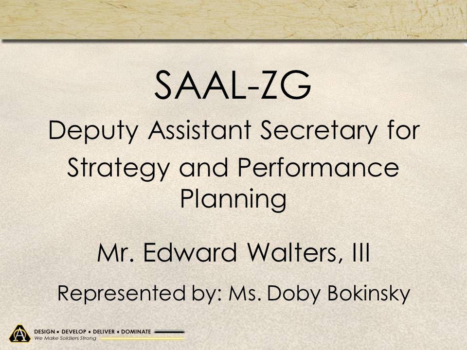 SAAL-ZG Deputy Assistant Secretary for