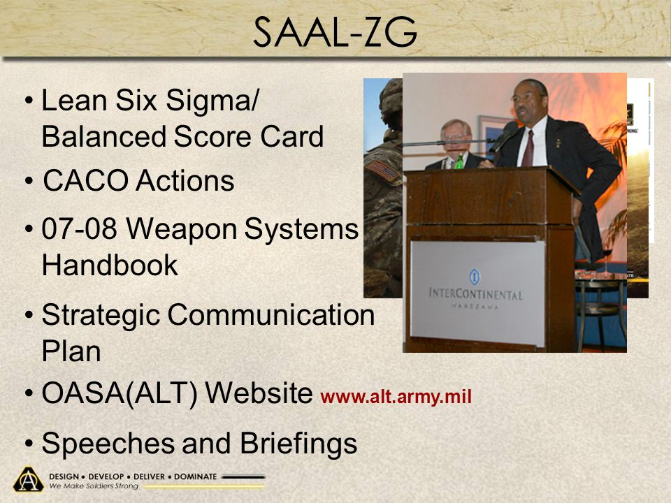 SAAL-ZG Lean Six Sigma/ Balanced Score Card CACO Actions