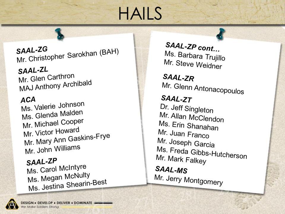 HAILS SAAL-ZG SAAL-ZP cont… Mr. Christopher Sarokhan (BAH)