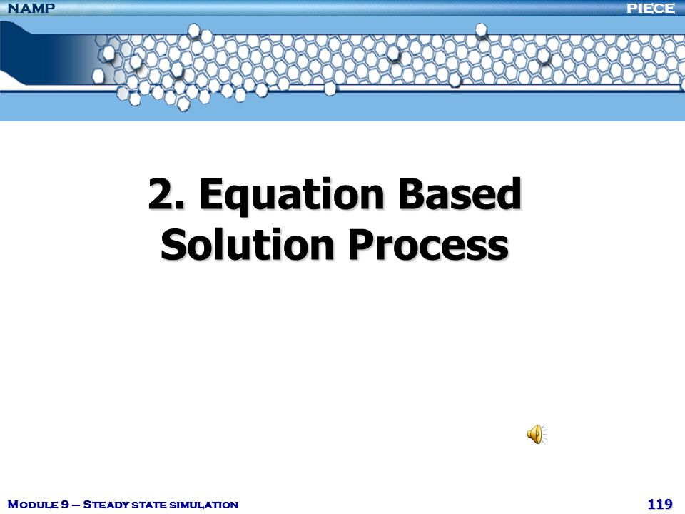 2. Equation Based Solution Process