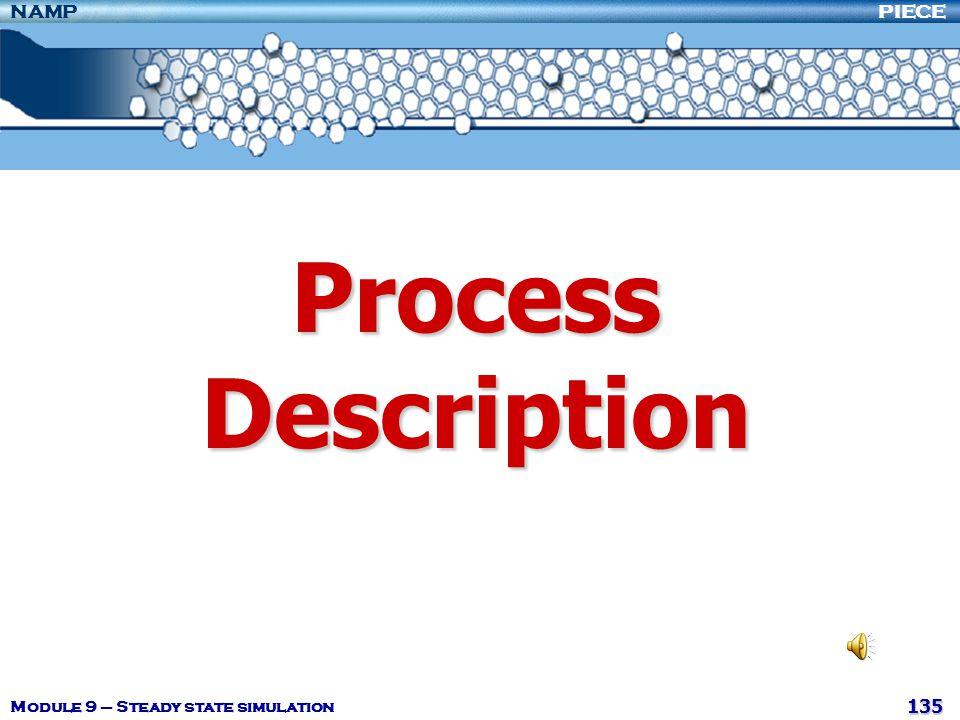 Process Description Module 9 – Steady state simulation