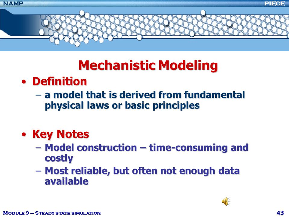 Mechanistic Modeling Definition Key Notes