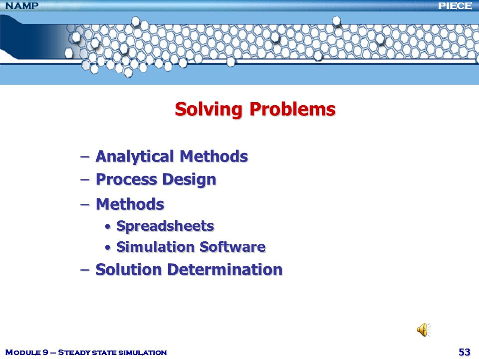 Solving Problems Analytical Methods Process Design Methods