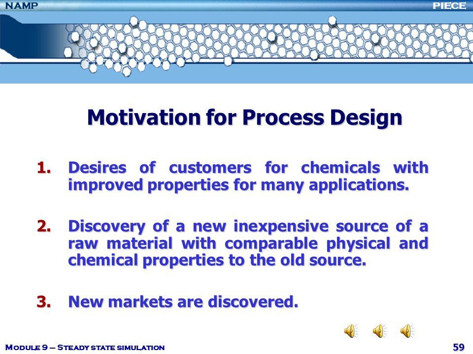 Motivation for Process Design