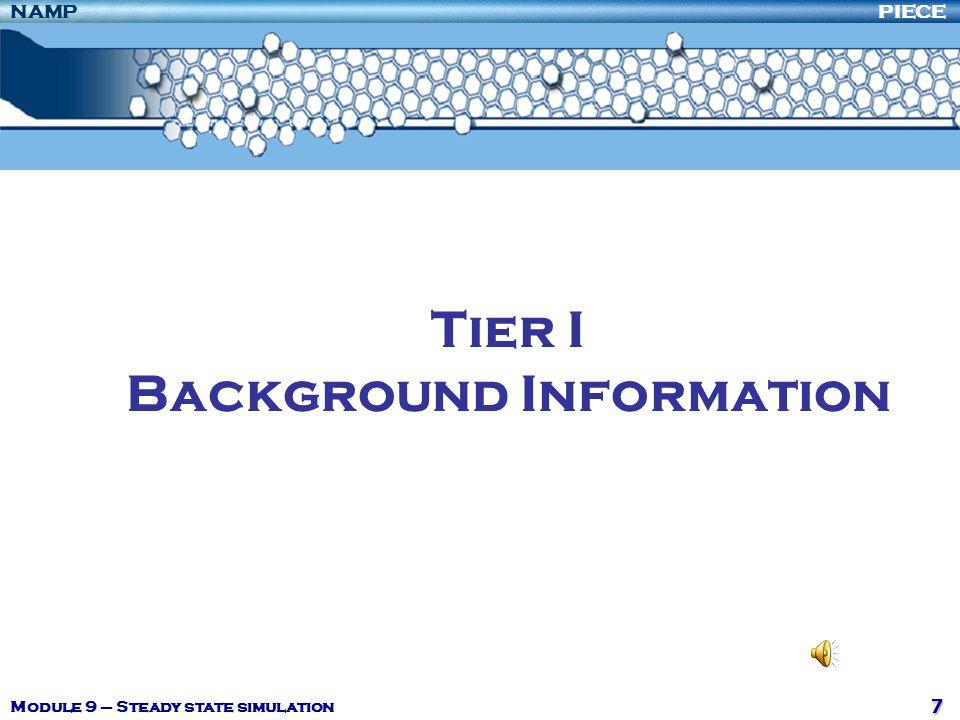 Tier I Background Information