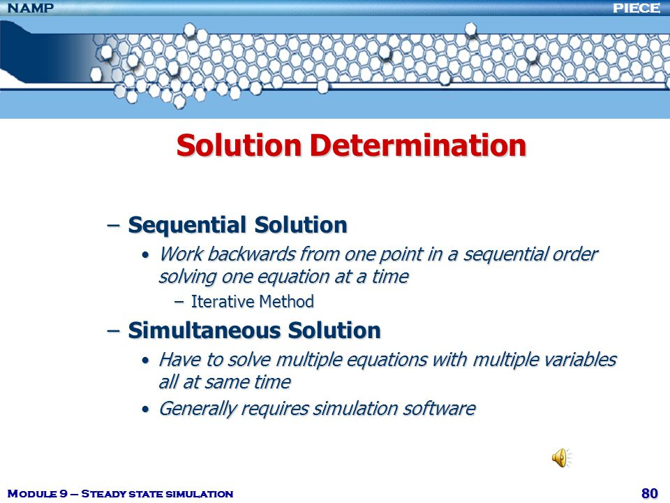 Solution Determination