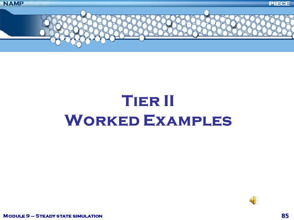 Tier II Worked Examples