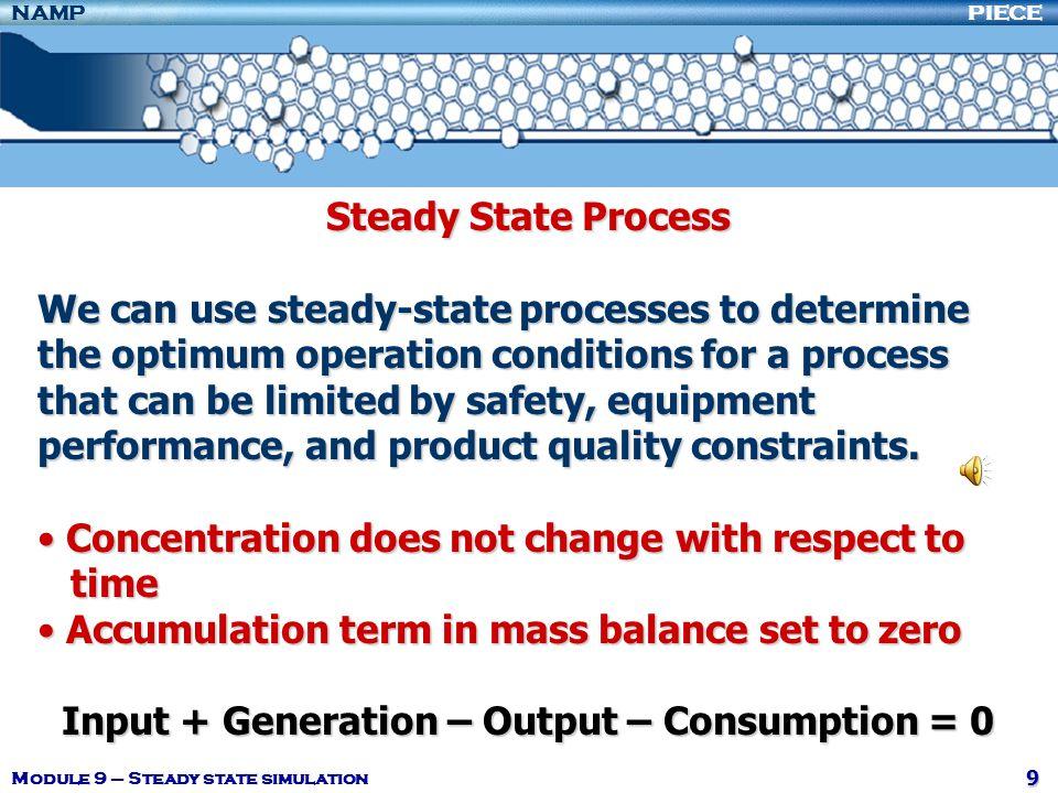 Input + Generation – Output – Consumption = 0