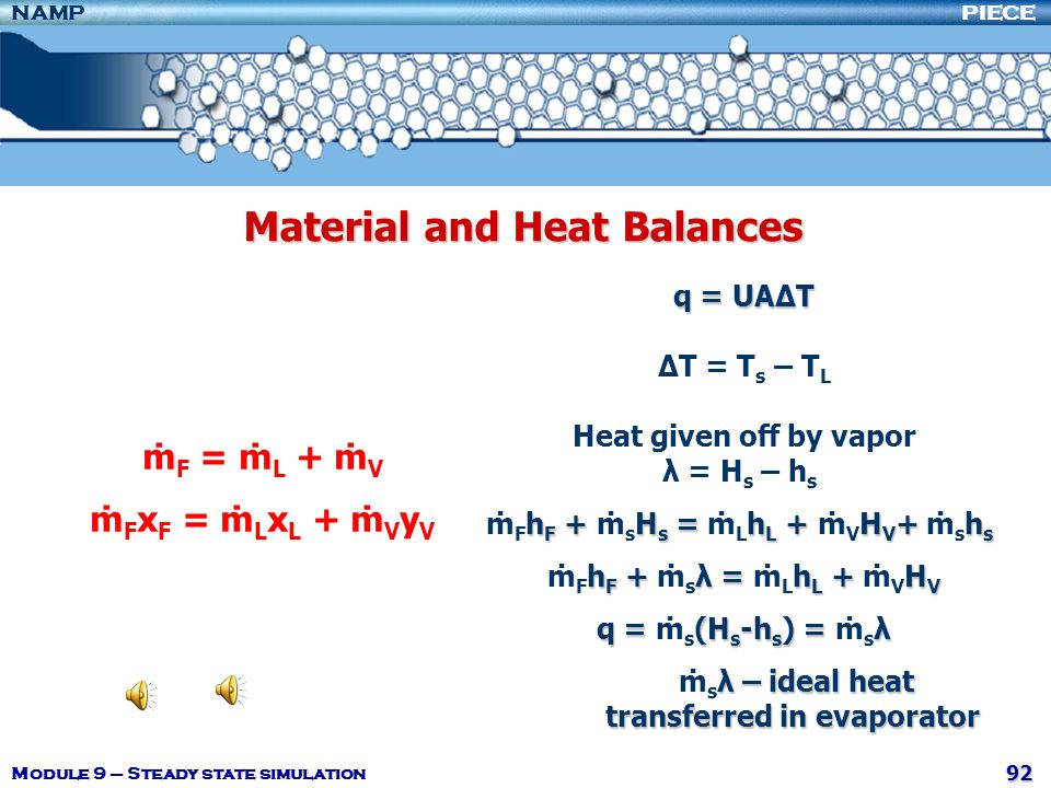 Material and Heat Balances