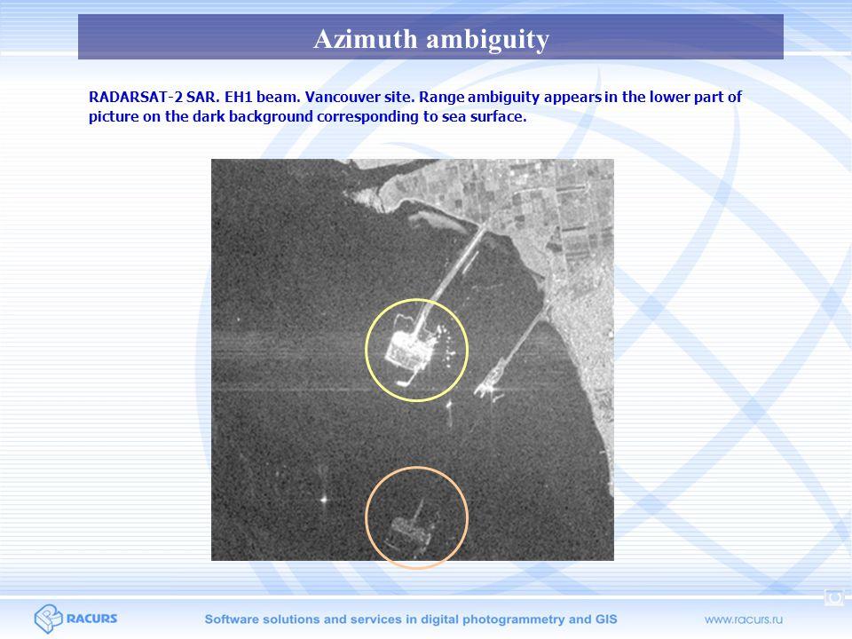 Azimuth ambiguity