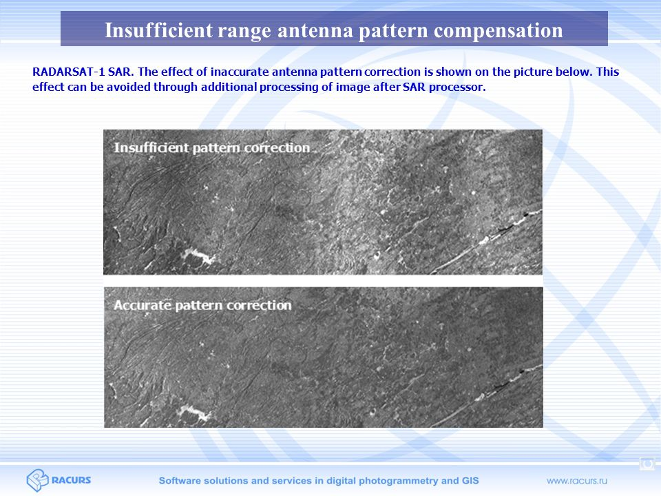 Insufficient range antenna pattern compensation