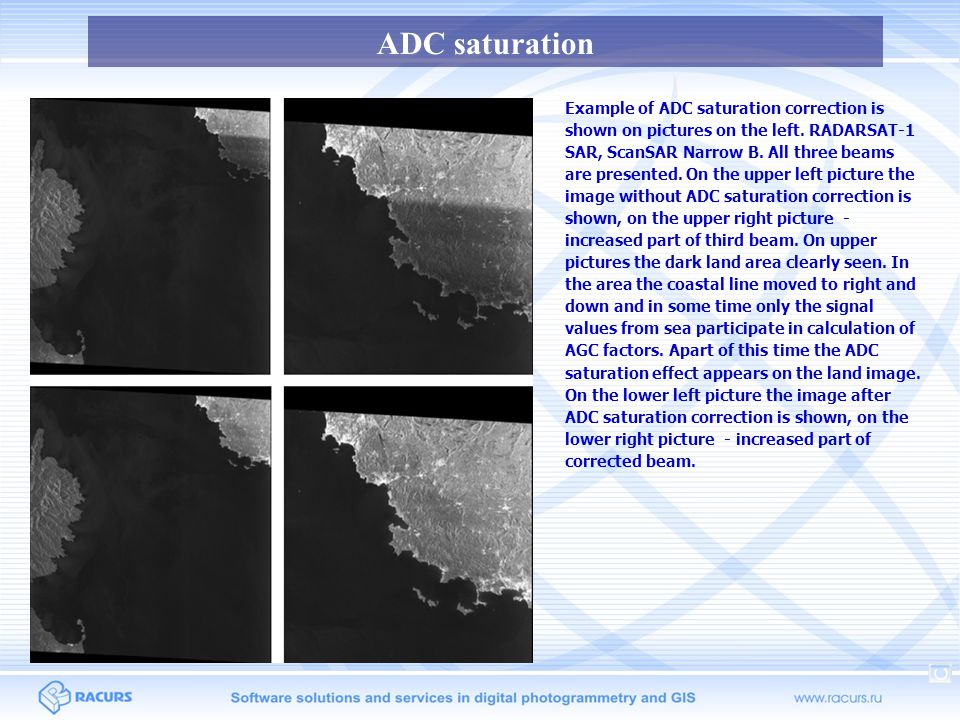 ADC saturation