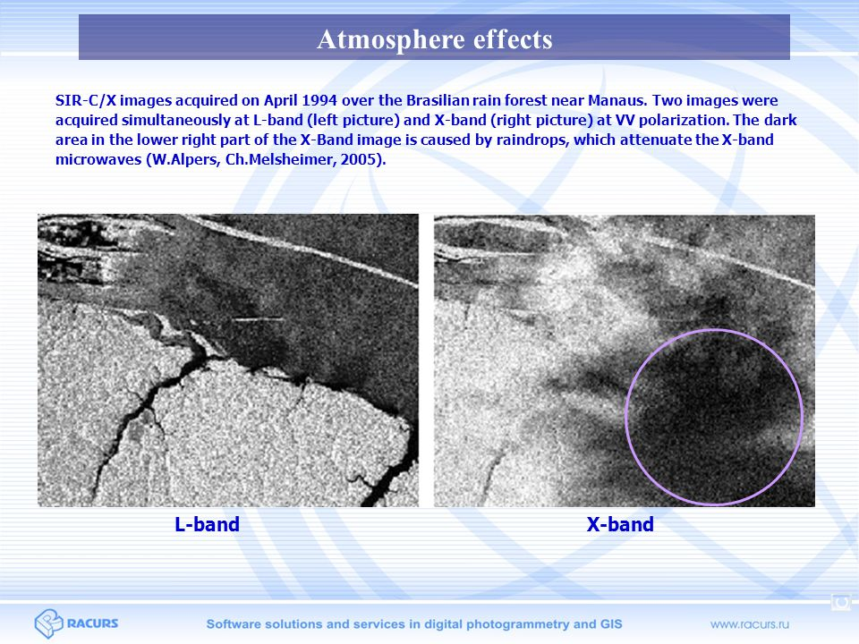 Atmosphere effects L-band X-band