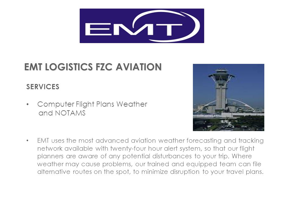 EMT LOGISTICS FZC AVIATION