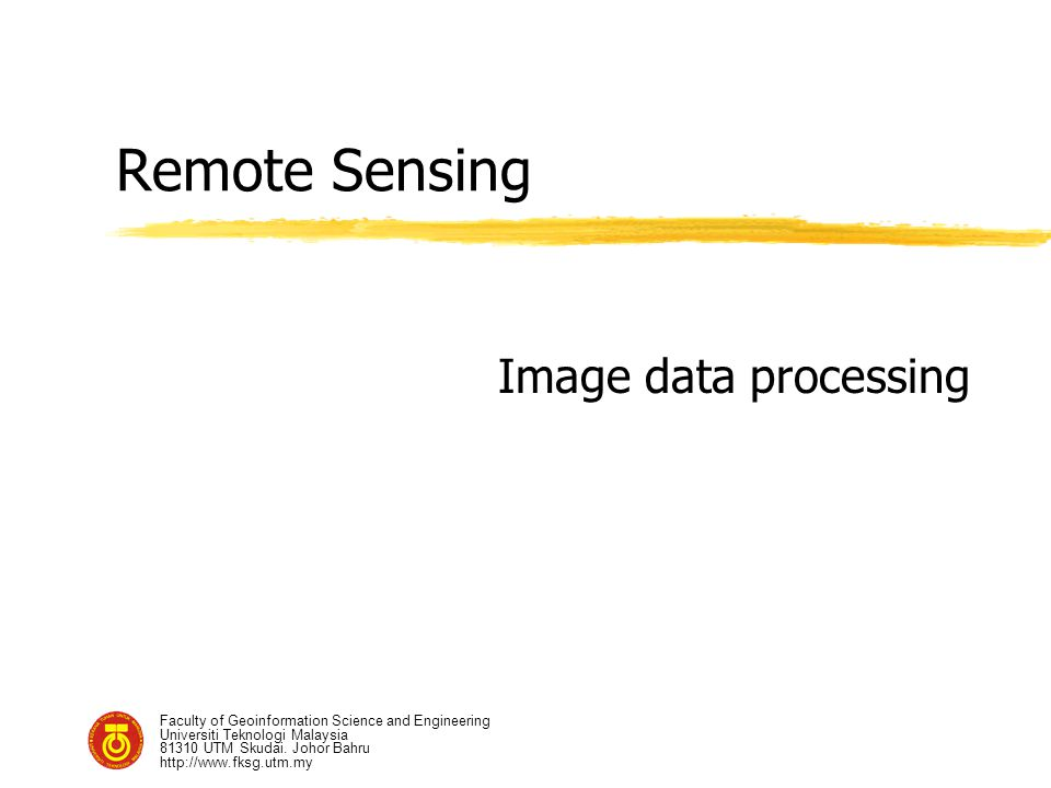 Remote Sensing Image data processing
