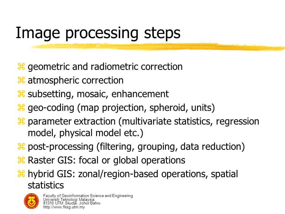 Image processing steps