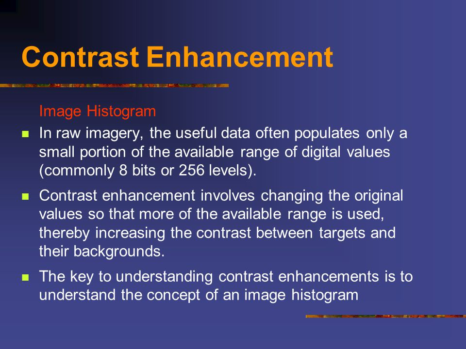 Contrast Enhancement Image Histogram
