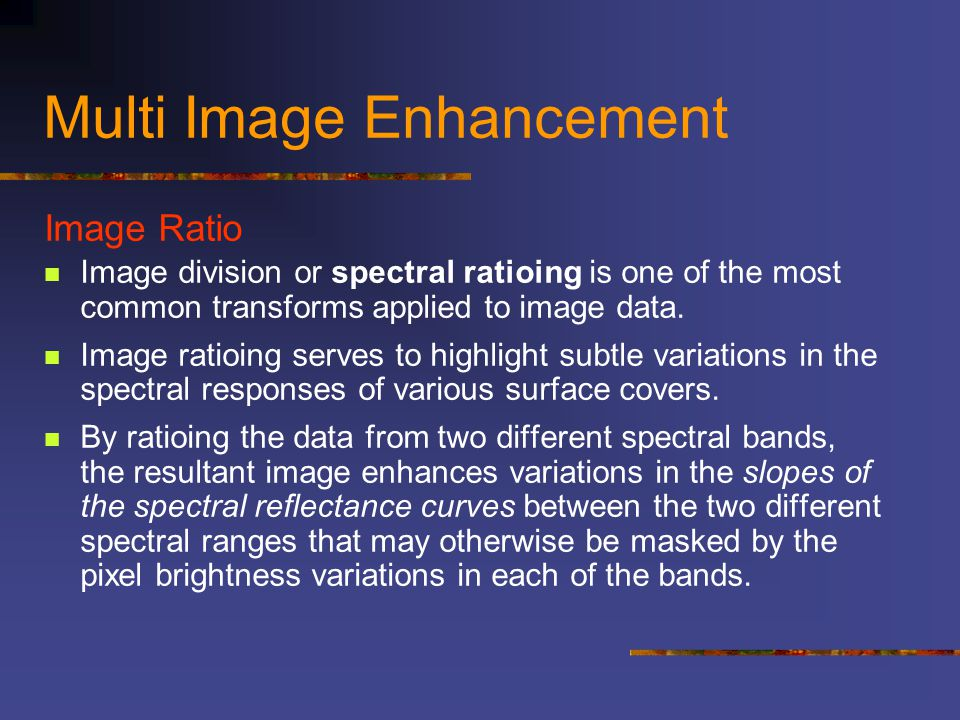 Multi Image Enhancement