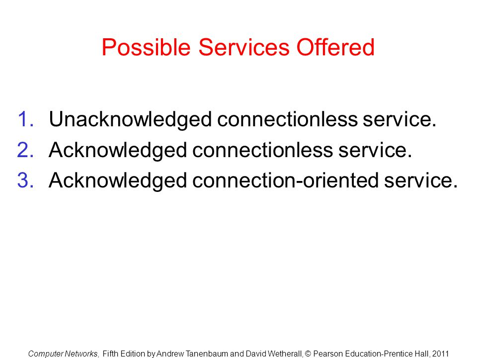 Possible Services Offered