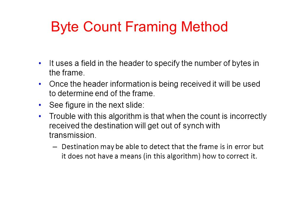 Byte Count Framing Method