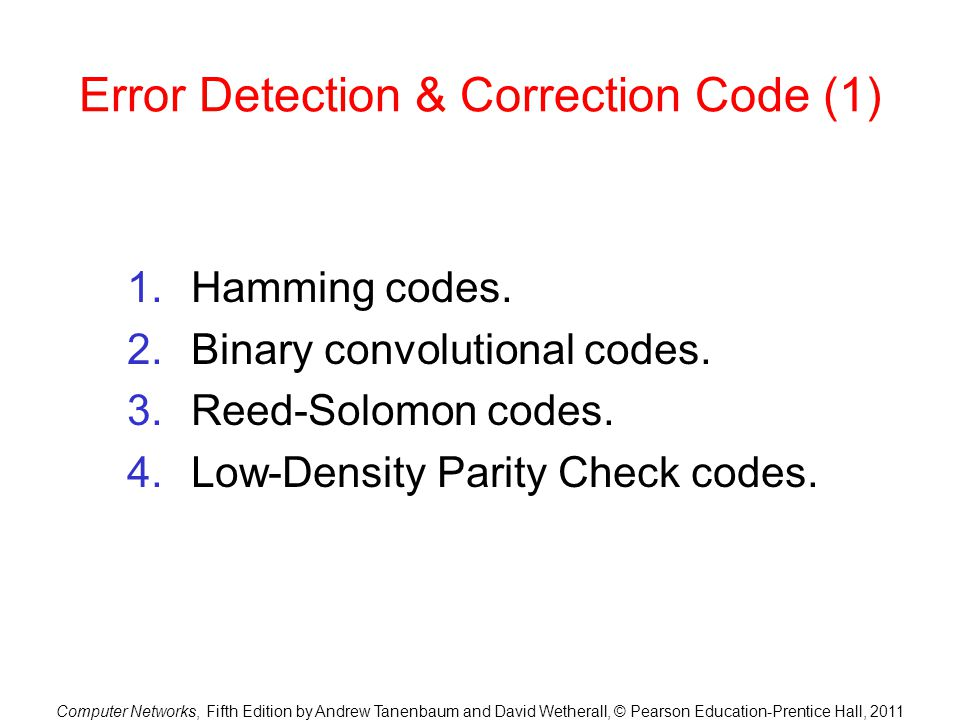 Error Detection & Correction Code (1)