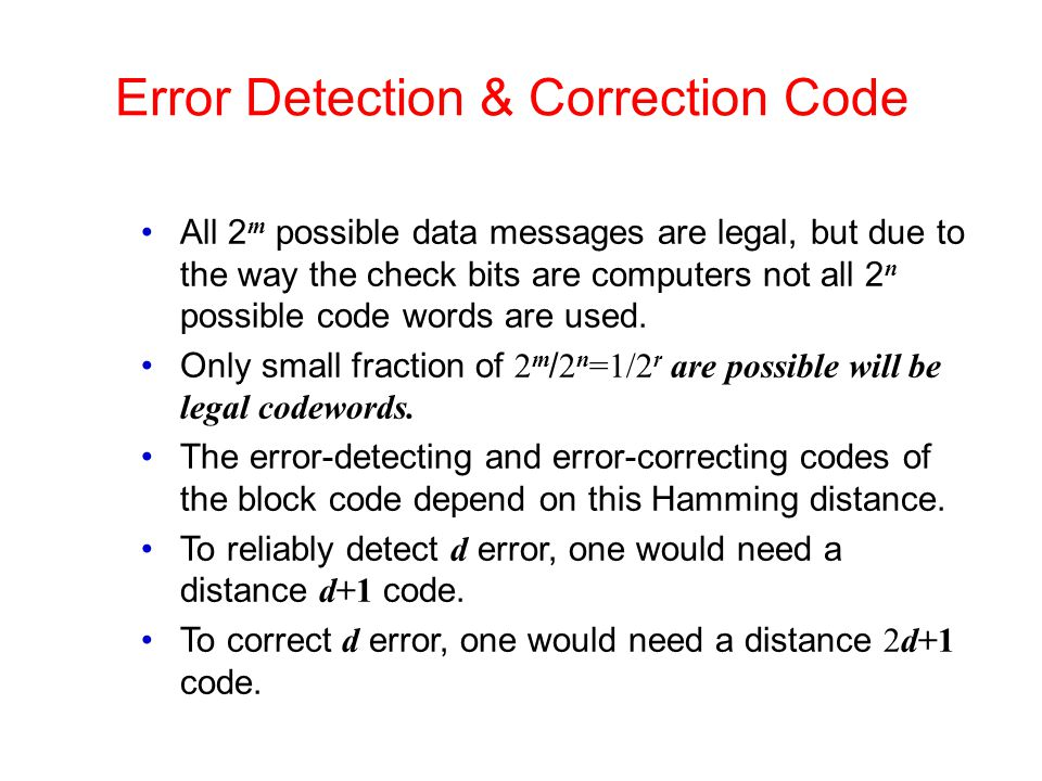 Error Detection & Correction Code