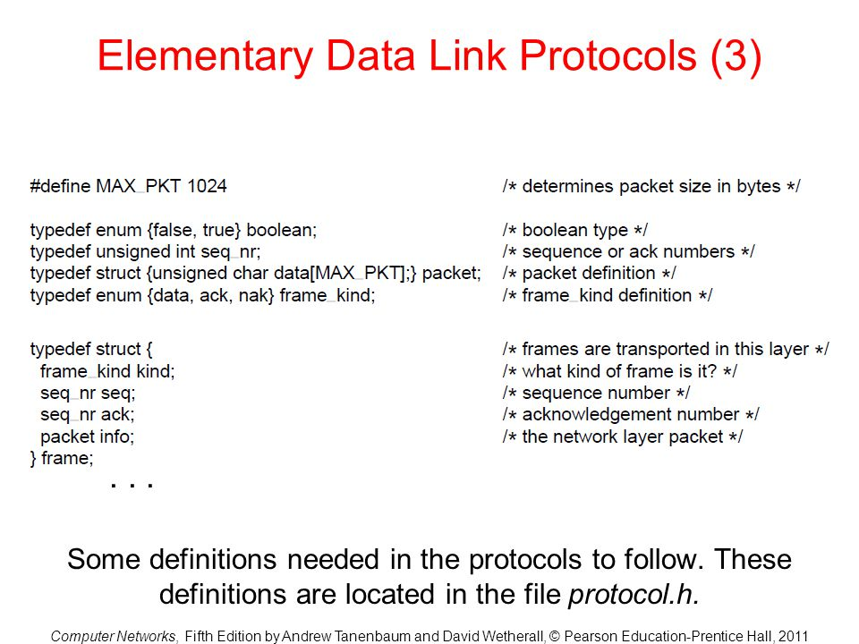 Elementary Data Link Protocols (3)