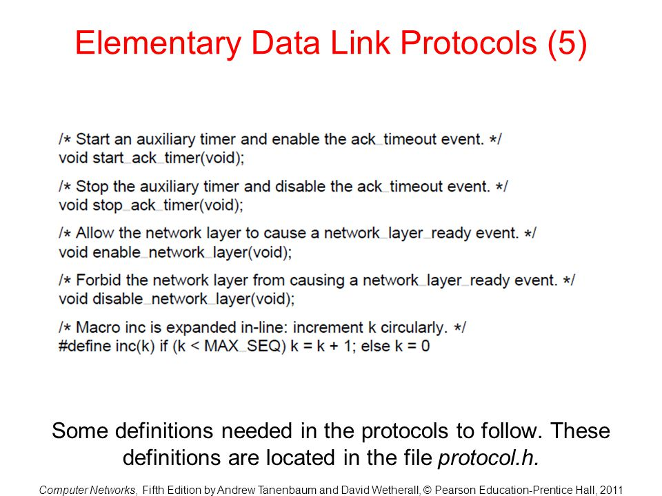 Elementary Data Link Protocols (5)