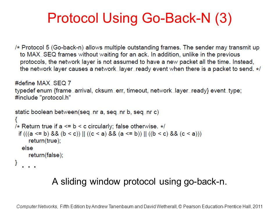 Protocol Using Go-Back-N (3)