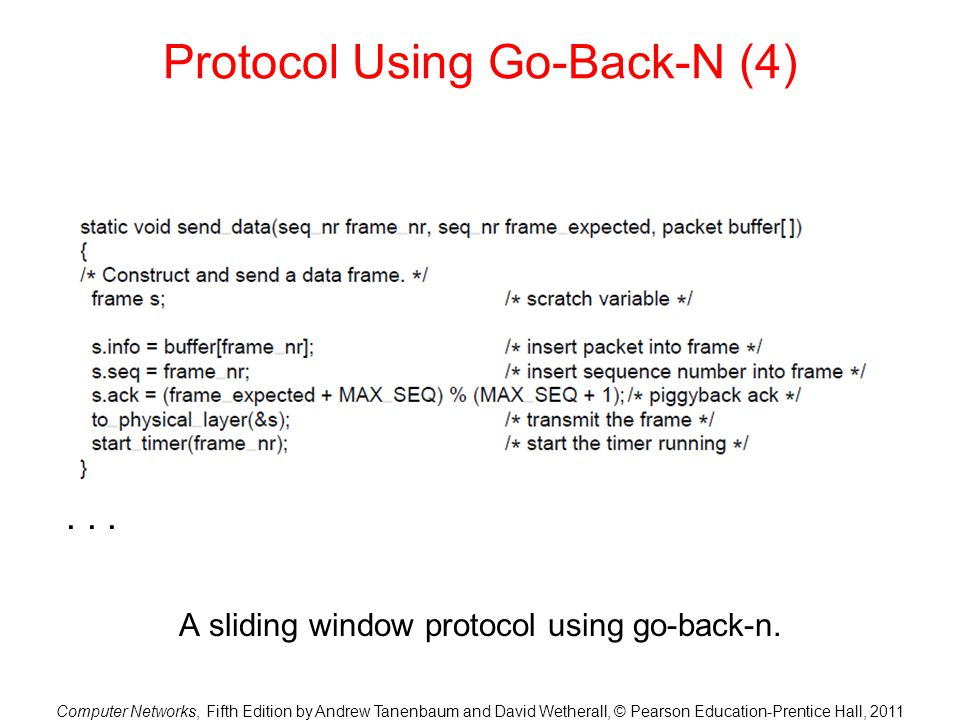 Protocol Using Go-Back-N (4)