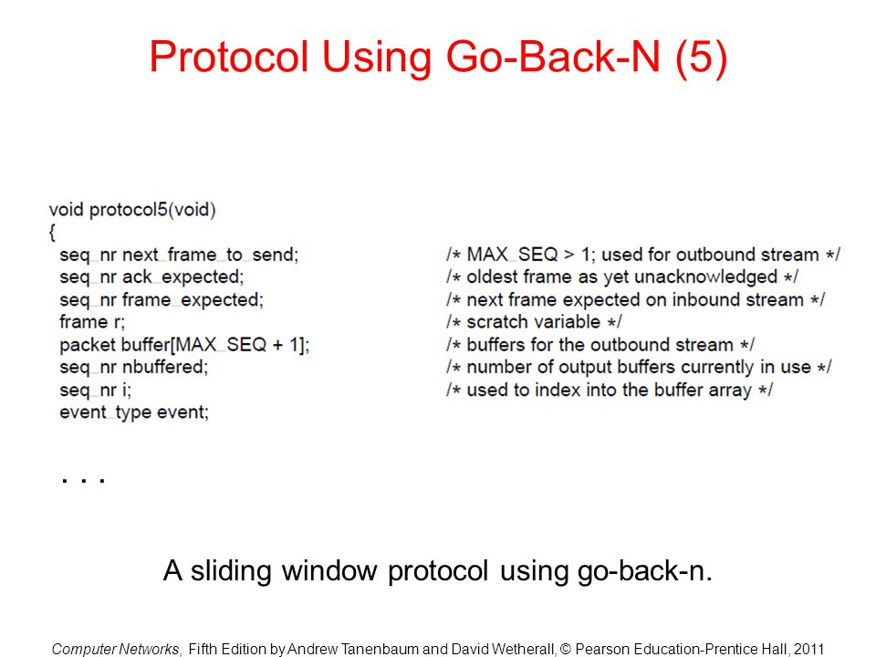 Protocol Using Go-Back-N (5)