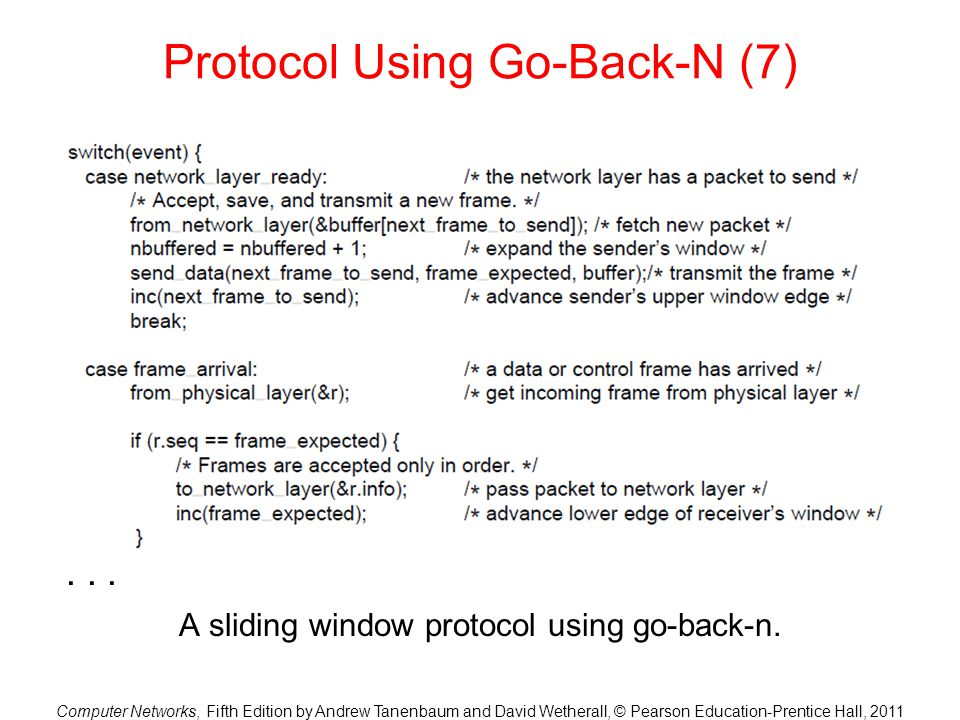 Protocol Using Go-Back-N (7)