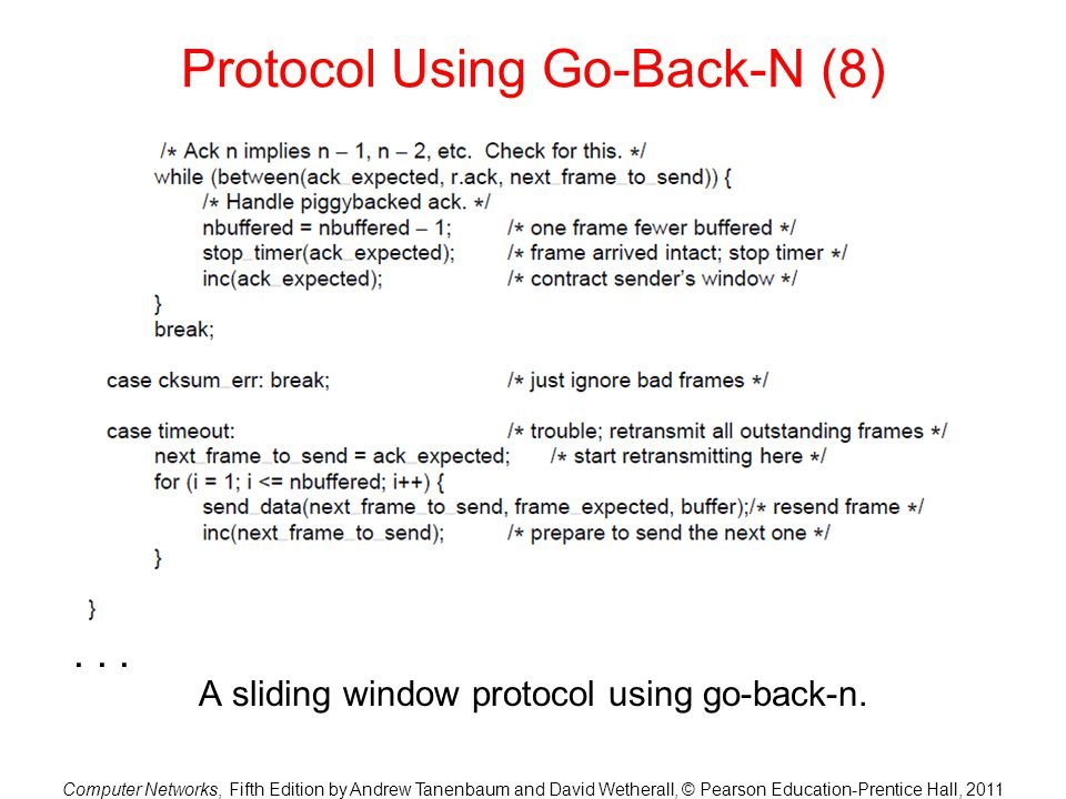 Protocol Using Go-Back-N (8)