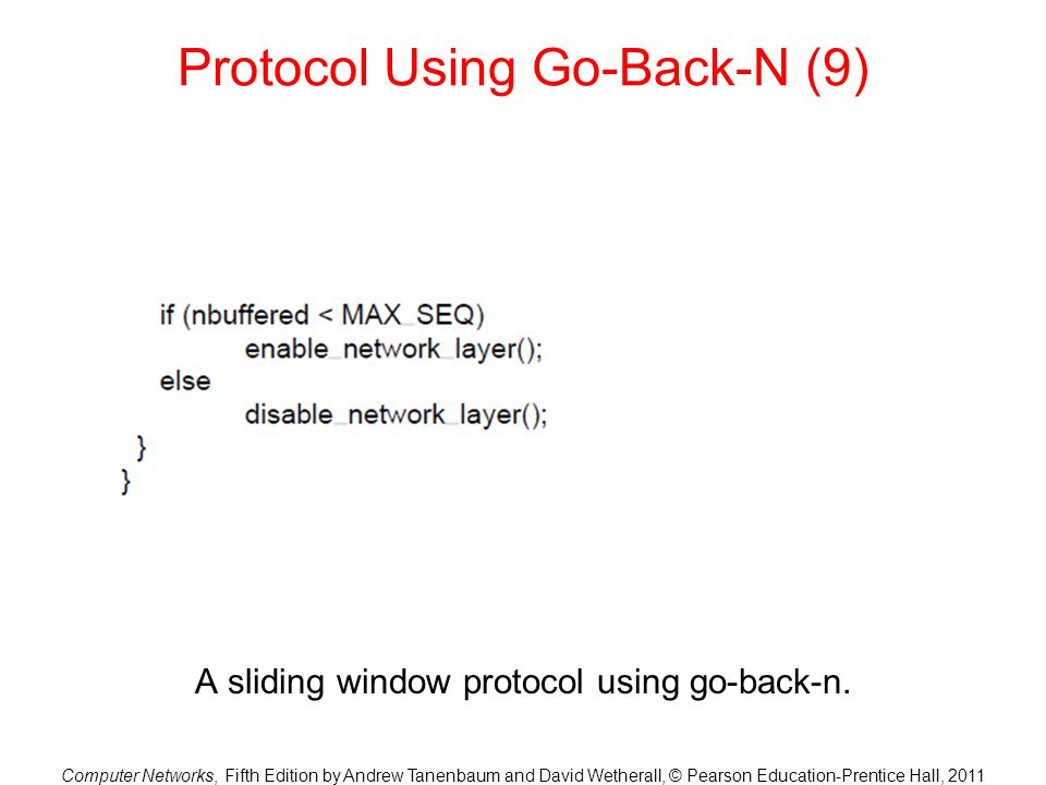 Protocol Using Go-Back-N (9)