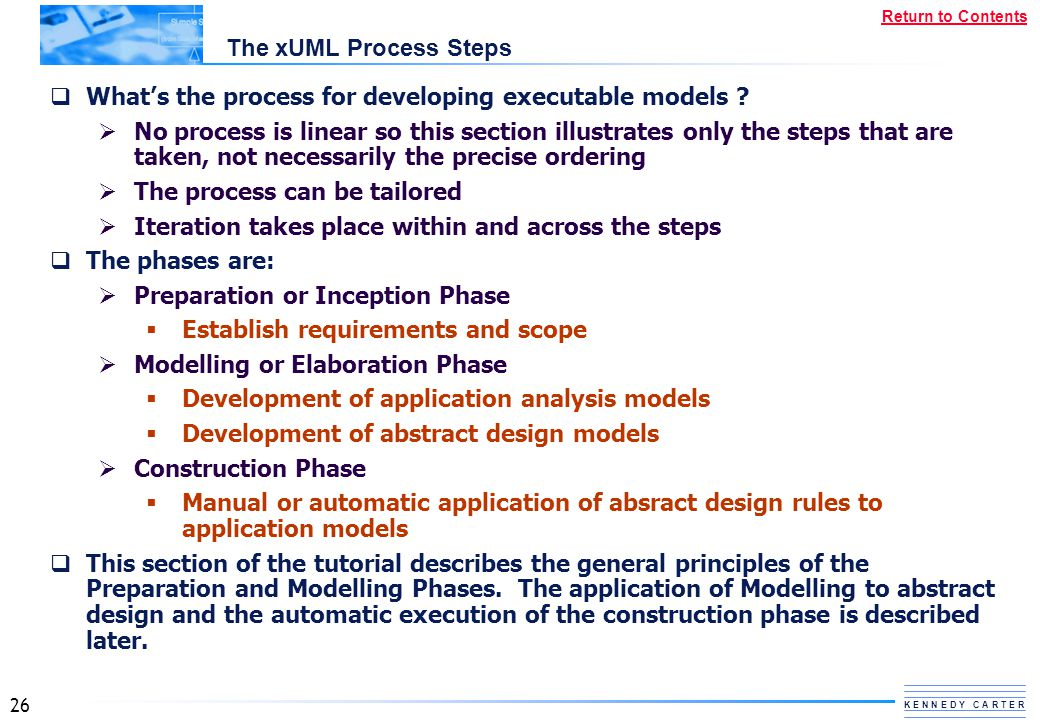 The xUML Process Steps What's the process for developing executable models
