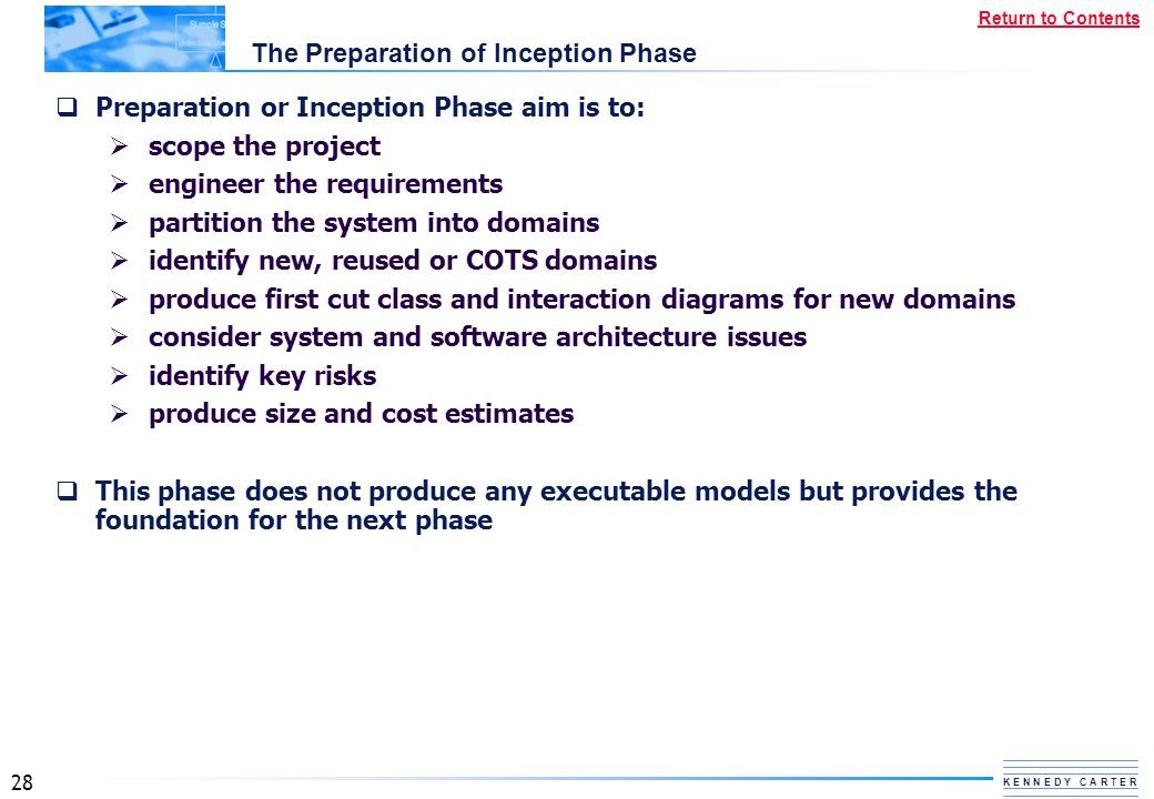 The Preparation of Inception Phase