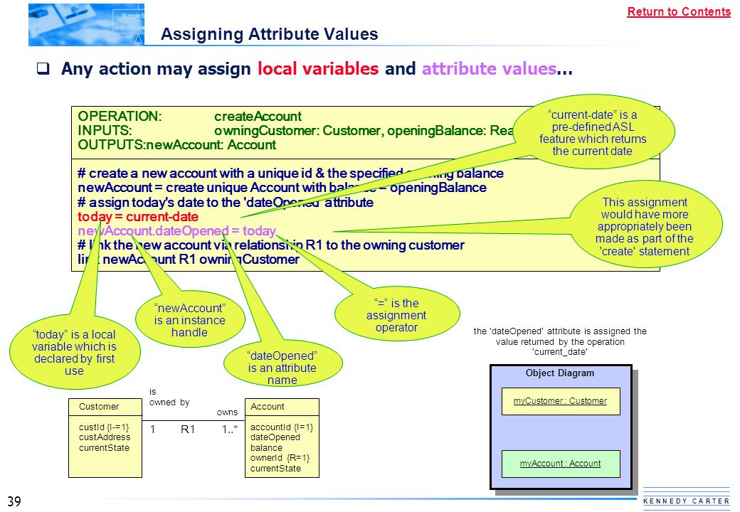 Assigning Attribute Values