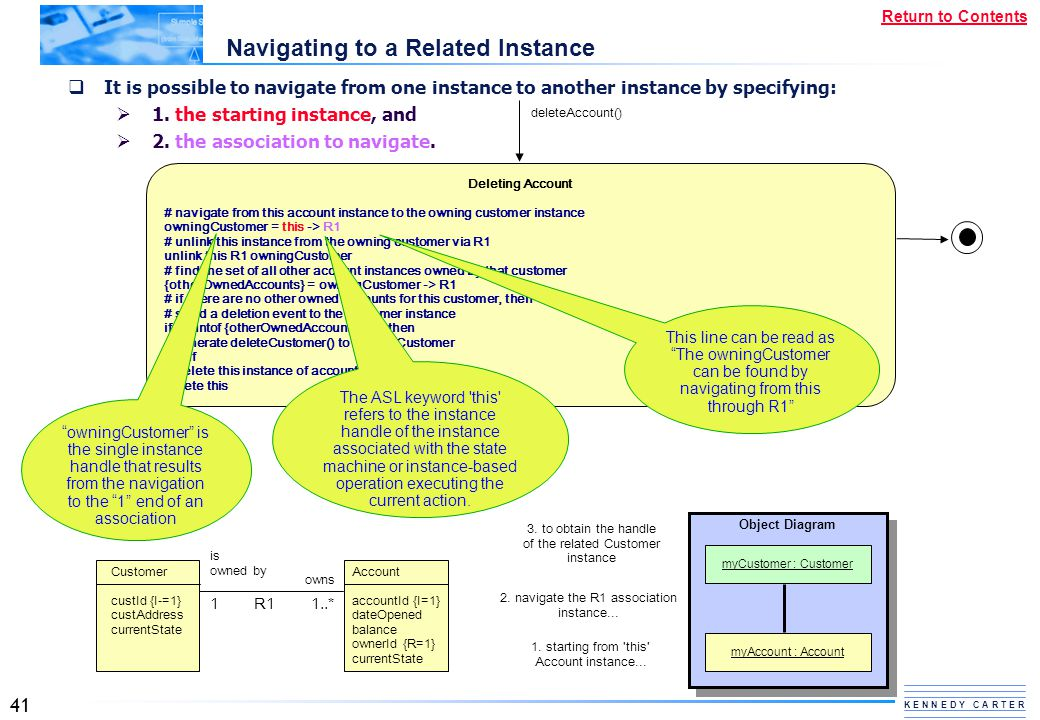Navigating to a Related Instance