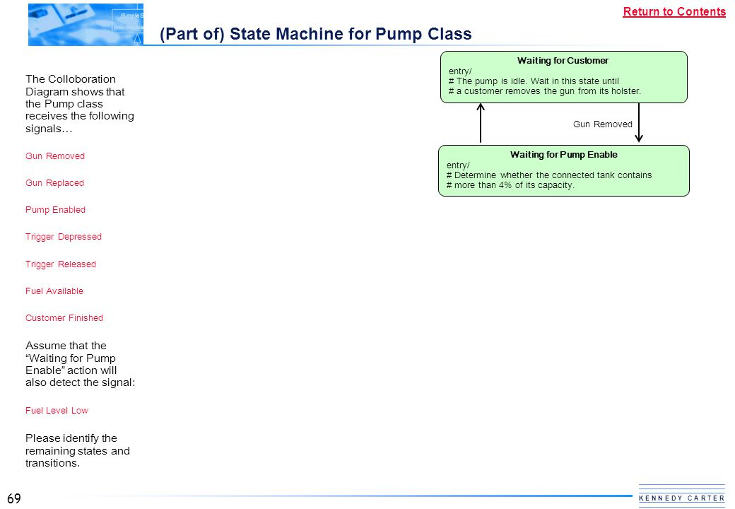 (Part of) State Machine for Pump Class