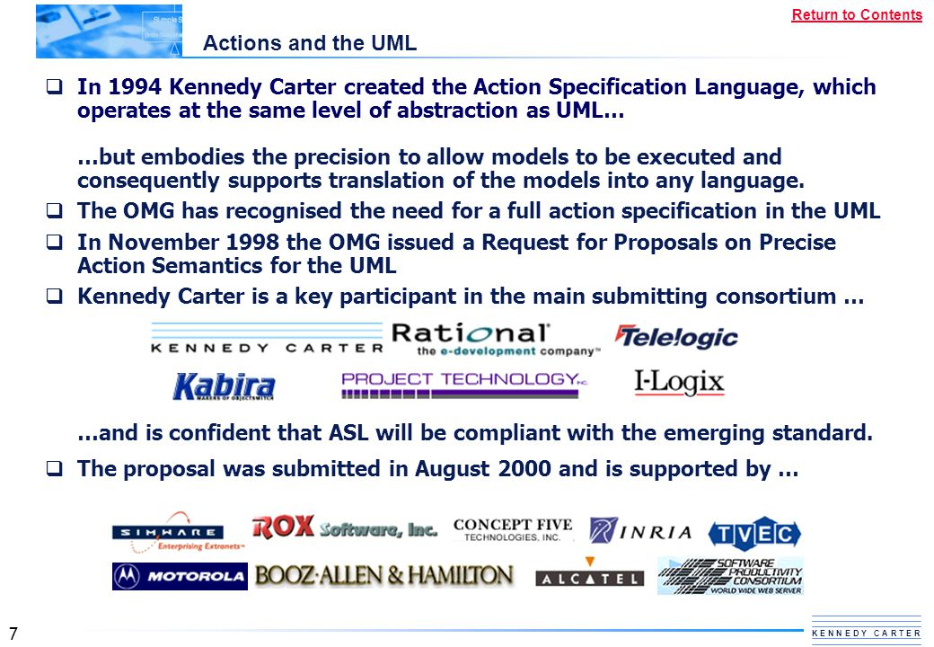 Actions and the UML