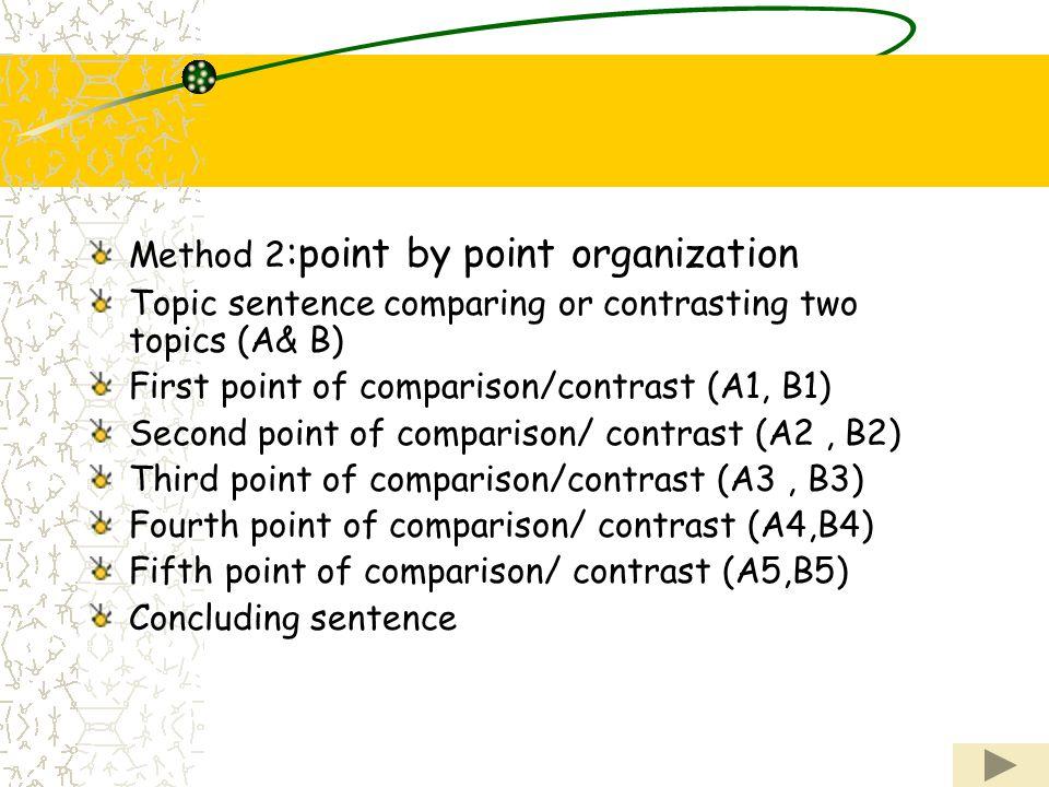 comparison contrast essay point point organization