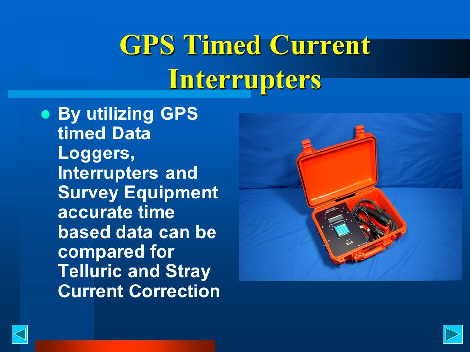 GPS Timed Current Interrupters